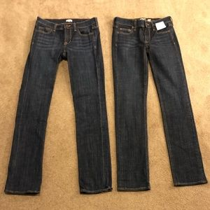 J.CREW  BUNDLE! Stretch Straight Jeans SZ 24S